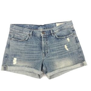All Saints Everit Kari Distressed Denim Shorts